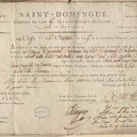 Feuille d'appointement de Duportail, capitaine de régiment d'infanterie à Saint-Domingue
